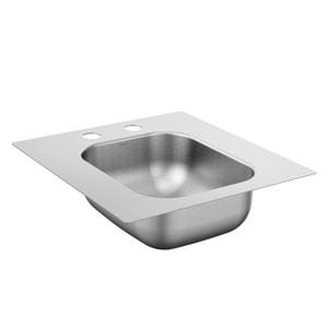 Moen 2000 Series 16-5/8 x 17-5/16 in. 2 Hole Stainless Steel Single Bowl Drop-in Kitchen Sink in Matte Stainless Steel MKG2045522BQ
