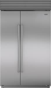Sub Zero 48 in. wide 28.2 cf Built-In Side-By-Side Refrigerator with Pro Handle in Stainless Steel SBI48SIDSPH