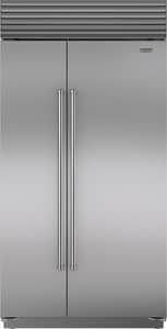 Sub Zero 42 in. 16.3 cf Built-In Side-By-Side Refrigerator with Tubular Handle in Stainless Steel SICBBI42SSTH
