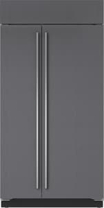 Sub Zero 24 CF 42 in. Overlay Panel Side-By-Side Refrigerator SBI42SO