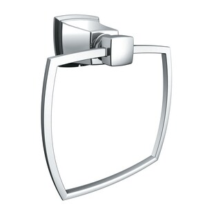 Moen Boardwalk Rectangular Closed Towel Ring in Polished Chrome MY3286CH