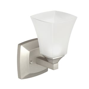 Moen Voss™ 100W Wall Sconce Bath Light Fixture in Brushed Nickel MYB5161BN