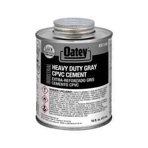 Oatey 16 oz Plastic Grey Pipe Cement O31148