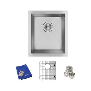 Elkay Crosstown® 16 x 18-1/2 in. No Hole Stainless Steel Single Bowl Undermount Kitchen Sink in Polished Satin EEFU131610TC