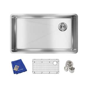 Elkay Crosstown® 31-1/2 x 18-1/2 in. Stainless Steel Single Bowl Undermount Kitchen Sink EECTRU30179RTC
