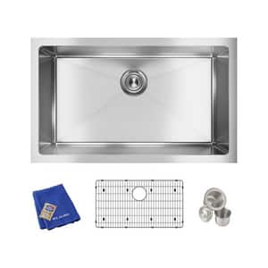 Elkay Crosstown® 30-1/2 x 18-1/2 in. Stainless Steel Single Bowl Undermount Kitchen Sink EEFRU281610TC
