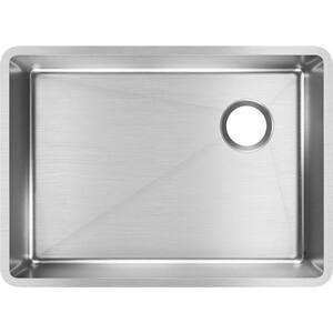 Elkay Crosstown® 25-1/2 x 18-1/2 in. Stainless Steel Single Bowl Undermount Kitchen Sink EECTRU24179RT