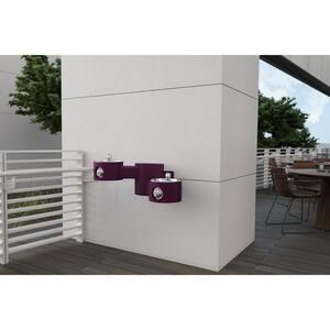 Elkay Outdoor Outdoor Wall Mount Bi-Level Drinking Fountain in Purple ELK4406PUR