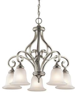 Kichler Lighting Monroe 29-1/2 in. 100W 5-Light Medium Chandelier in Brushed Nickel KK43158NI