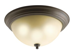 Kichler Lighting 6-1/4 x 15-1/4 in. 60W 3-Light Medium Flush Mount Ceiling Fixture in Olde Bronze KK8110OZ