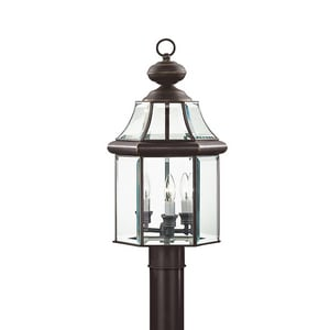 Kichler Lighting Embassy Row 60W 3-Light Post Mount Lantern in Olde Bronze KK9985OZ