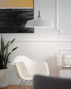 Kichler Lighting Danika 100W 1-Light Incandescent Pendant in White KK43683WH