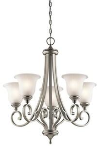 Kichler Lighting Monroe 100W 5-Light Medium Incandescent Chandelier in Brushed Nickel KK43156NI
