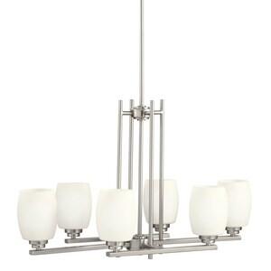Kichler Lighting Eileen 18-1/2 in. 100W 6-Light Medium Chandelier in Brushed Nickel KK3898NI