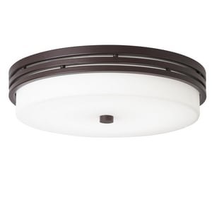 Kichler Lighting Ceiling Space 14 in. 22W 1-Light Integrated LED Flush Mount Ceiling Fixture in Olde Bronze KK42380OZLEDR