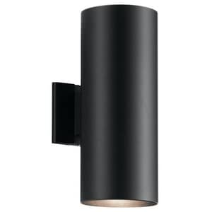 Kichler Lighting 60W 2-Light Medium E-26 incandescent Outdoor Wall Sconce in Black KK9246BK