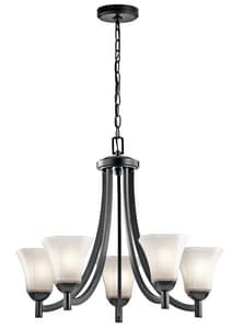 Kichler Lighting Serina 100W 5-Light Medium E-26 Incandescent Chandelier in Black KK43631BK