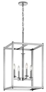 Kichler Lighting Crosby 60W 4-Light Incandescent Pendant in Polished Chrome KK43998CH