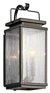 Kichler Lighting Manningham 60W 2-Light Outdoor Wall Fixture in Olde Bronze KK49385