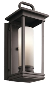 Kichler Lighting South Hope 60W 1-Light Medium Lantern in Rubbed Bronze KK49475RZ