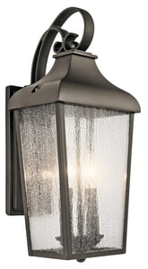 Kichler Lighting Forestdale 2-Light 60W Up Lighting Outdoor Wall Sconce in Olde Bronze KK49736OZ
