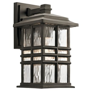 Kichler Lighting Beacon Square 1-Light 60W Down Lighting Outdoor Wall Light in Olde Bronze KK49829OZ