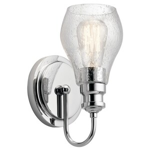 Kichler Lighting Greenbrier 1-Light 60W Medium E-26 Incandescent Wall Sconce in Polished Chrome KK45390CH