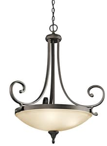 Kichler Lighting Monroe 32-3/4 in. 100W 3-Light Inverted Pendant in Olde Bronze KK43164OZ