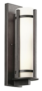 Kichler Lighting Camden 100W 3-Light Medium E-26 Incandescent Extension Sconce in Anvil Iron KK49122AVI