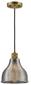 Kichler Lighting Devin 100W 1-Light Medium E-26 Base Pendant in Natural Brass KK43551NBR