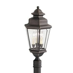 Kichler Lighting Savannah Estates 60W 120V Candelabra Outdoor Post Mount in Olde Bronze KK9931OZ
