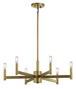 Kichler Lighting Erzo 60W 6-Light Candelabra E-12 Incandescent Chandelier in Natural Brass KK43859NBR
