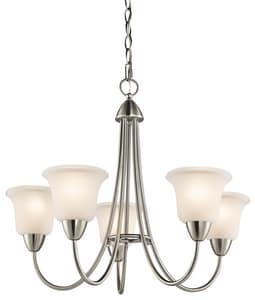 Kichler Lighting Nicholson 21 in. 100W 5-Light Medium Chandelier in Brushed Nickel KK42884NI