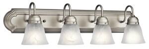 Kichler Lighting Signature 4-Light Incandescent Bath in Brushed Nickel KK5338NI