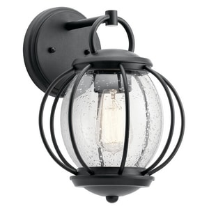 Kichler Lighting Vandalia 12 in. 1-Light Outdoor Wall Sconce in Textured Black KK49727BKT