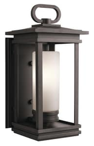 Kichler Lighting South Hope 100W 1-Light Outdoor Wall Lantern in Rubbed Bronze KK49476RZ