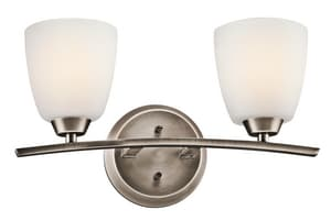 Kichler Lighting Granby™ 100W 2-Light Medium Base Incandescent Bath Vanity in Brushed Pewter KK45359BPT