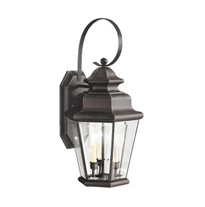Kichler Lighting Savannah Estates 60W 3-Light Outdoor Wall Lantern in Olde Bronze KK9677OZ