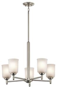 Kichler Lighting Shailene 100W 5-Light Medium Incandescent Chandelier in Brushed Nickel KK43671NI