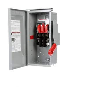 Siemens Energy & Automation 30A 3-Pole 4-Wire Fusible Safety Switch with Neutral SHF32NR