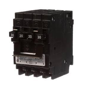 Siemens Energy & Automation 20W 120/240V 30A 2-Pole Quadplex Circuit Breaker SQ23020CT2