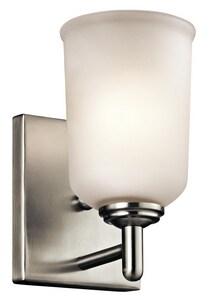 Kichler Lighting Shailene 100W 1-Light Wall Sconce in Brushed Nickel KK45572NI