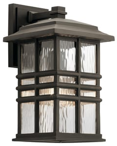 Kichler Lighting Beacon Square 14-1/4 in. 60W 1-Light Outdoor Wall Lantern in Olde Bronze KK49830OZ