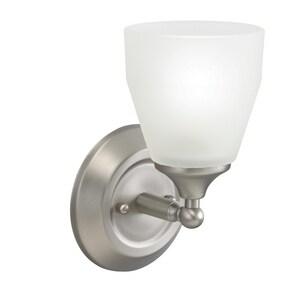 Kichler Lighting Ansonia 9-1/4 in. 100W 1-Light Medium Base Incandescent Wall Sconce in Brushed Nickel KK5446NI