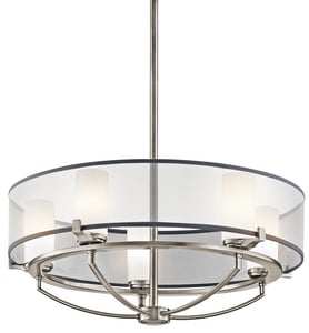 Kichler Lighting Saldana 50W 5-Light G9 Halogen Linear Chandelier in Classic Pewter KK42921CLP