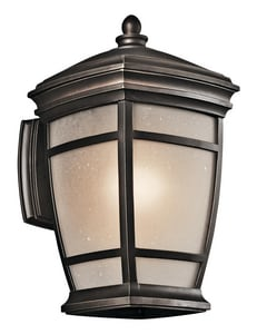 Kichler Lighting McAdams™ 100W 1-Light Medium Wall Mount Lantern in Rubbed Bronze KK49271RZ