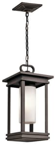 Kichler Lighting South Hope 100W 1-Light Outdoor Pendant in Rubbed Bronze KK49493RZ
