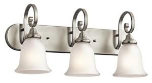 Kichler Lighting Monroe 100W 3-Light Bath Vanity Fixture in Brushed Nickel KK45055
