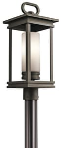 Kichler Lighting South Hope 100W 120V Medium E-26 Incandescent Outdoor Post Lantern in Rubbed Bronze KK49478RZ