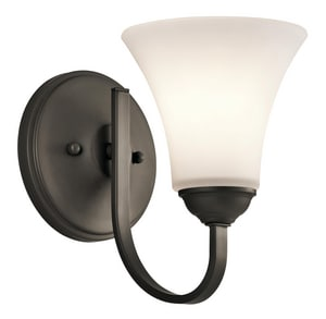 Kichler Lighting Keiran 100W 1-Light Medium E-26 Incandescent Wall Sconce in Olde Bronze KK45504OZ